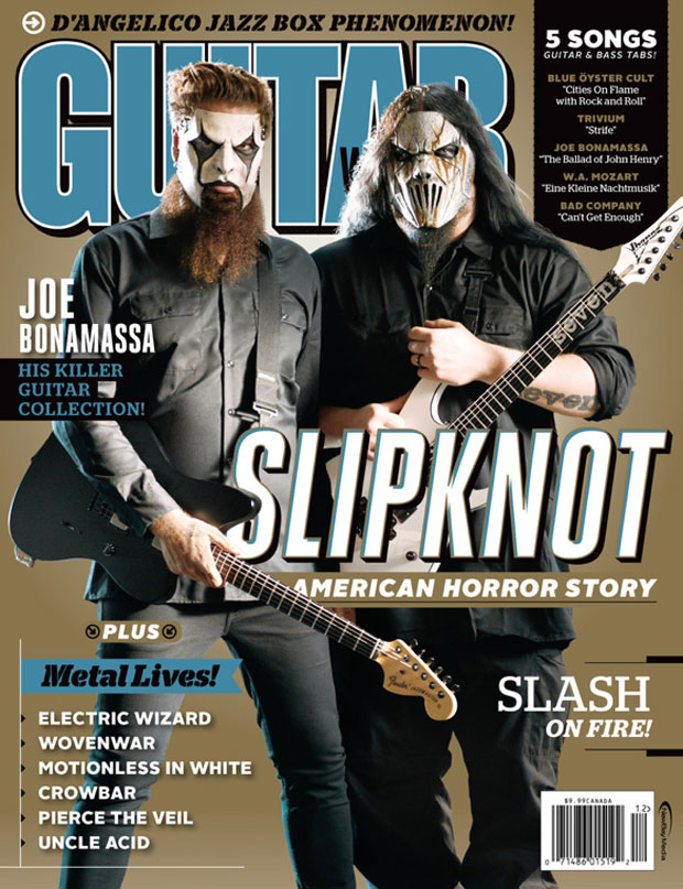 Jim Root - Mick Thomson - Slipknot - Guitar World 214
