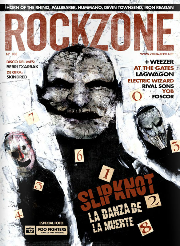 Slipknot - Rock Sound 194 Cover